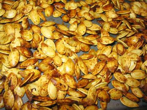 http://www.instructables.com/id/Roasted-Pumpkin-Seeds/