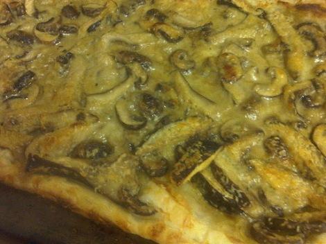 Leftover Reinvention: Roasted Garlic and Mushroom Tartlette