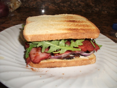 Turkey Bacon BLT with Mission Figs and Heirloom Tomato