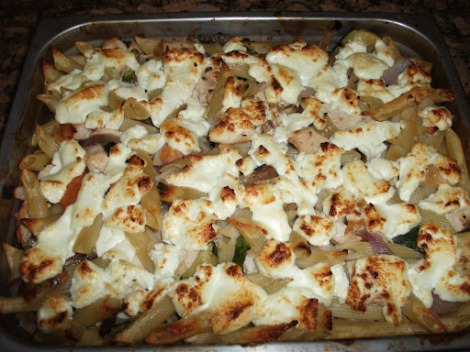 Leftover Reinvention: Roasted Vegetable and Chicken Pasta Bake