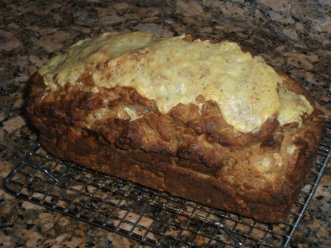 Guinness Beer Bread with Scallion Cream Cheese