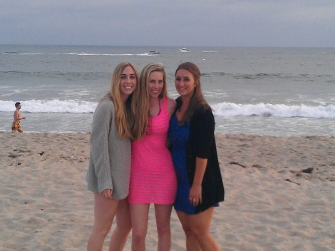 Cassy, Alyse, and I at the beach near the end of the day