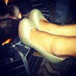 My glittery heels