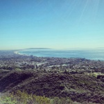 Hiking in Los Angeles by the pacific ocean. Doesn't get much prettier than this.