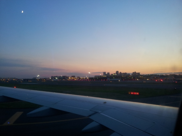 Sunset in MA off the plane