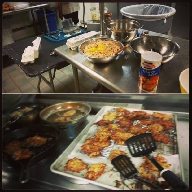 I looked the Latke party at work for all UCLA Athletics staff once again. It was a hit, but I smelled like fried potatoes for days.